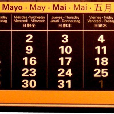 Actividades en abril y mayo de 2012
