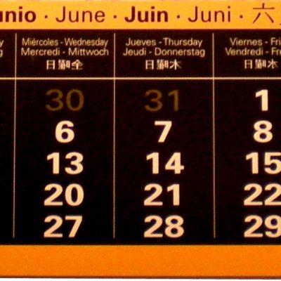 Actividades en junio de 2012