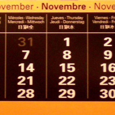 Actividades en noviembre de 2012