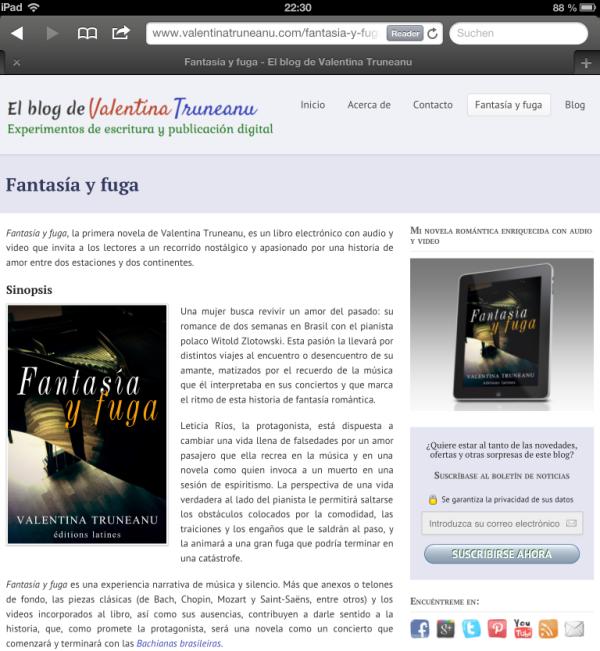 Fantasía y fuga en el blog de Valentina Truneanu