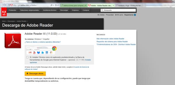 Descarga Adobe Reader XI