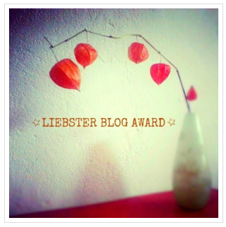 Nominación al Liebster Blog Award