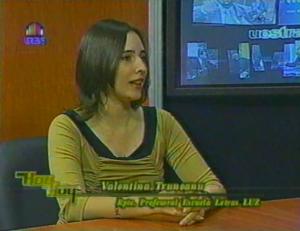 Valentina Truneanu en televisión