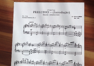 partitura del preludio de las Bachianas brasileiras 4