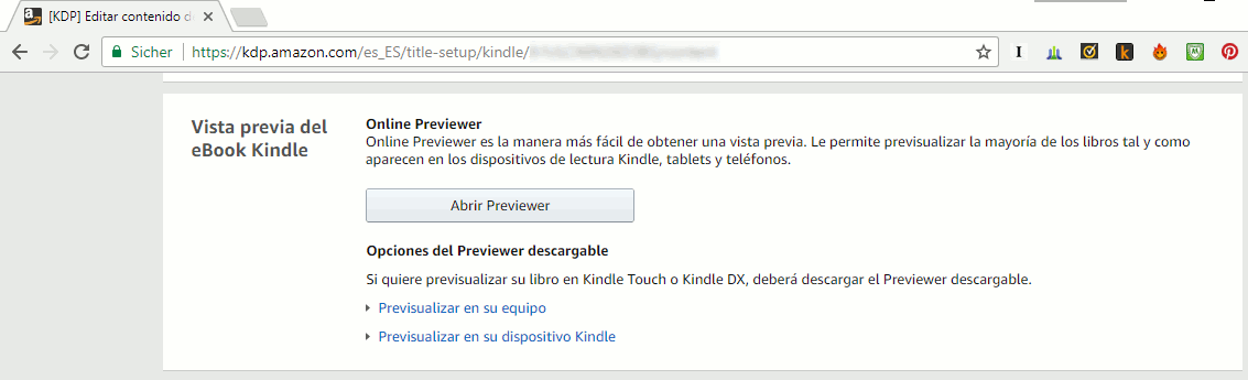 revisar libro en Amazon KDP