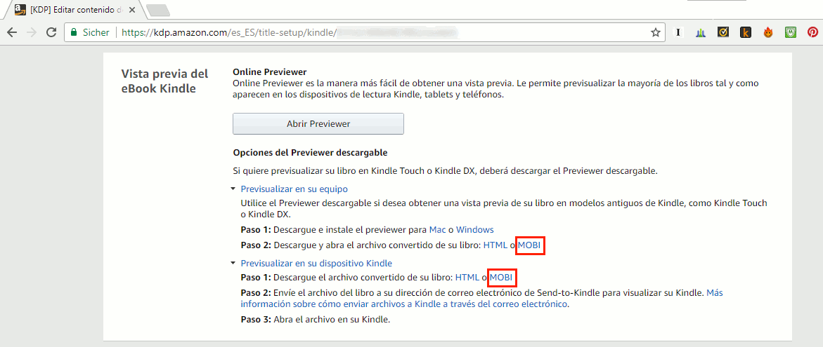 descargar libro de Amazon KDP