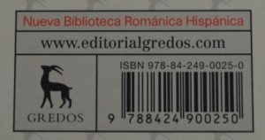 ISBN Editorial Gredos