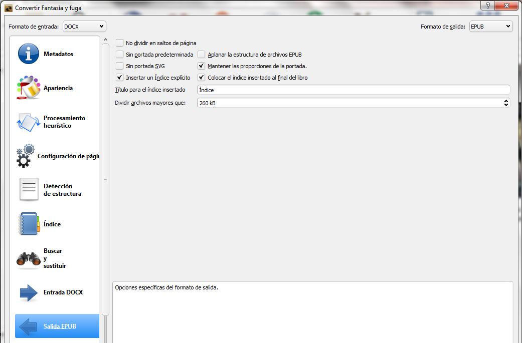 Convertir a ePub con Calibre