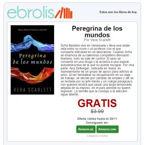 Ejemplo del contenido de un correo de recomendación de Ebrolis
