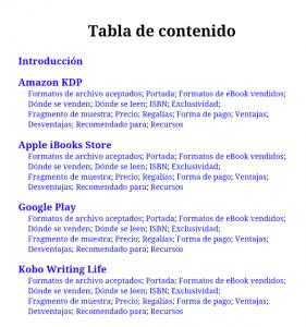 Tabla de contenido_Plataformas de publicación digital