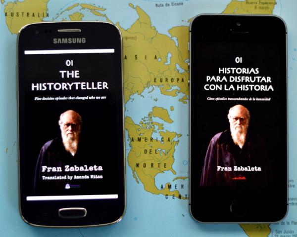 The Historyteller, edición para Babelcube, junto con el libro original