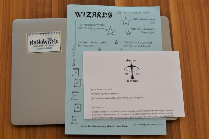 Material de los Swiss Wrimos para NaNoWriMo 2018
